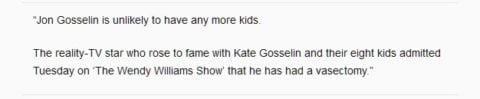 Jon Gosselin about kids